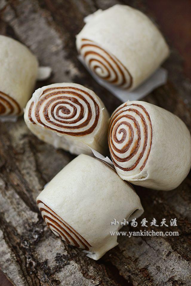 Coco Swirl Steamed Buns — Yankitchen