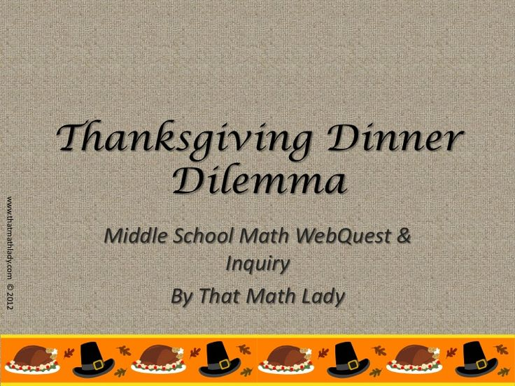 Middle School Math Teachers can use this CCSS-aligned student-centered project in the weeks leading up to Thanksgiving!