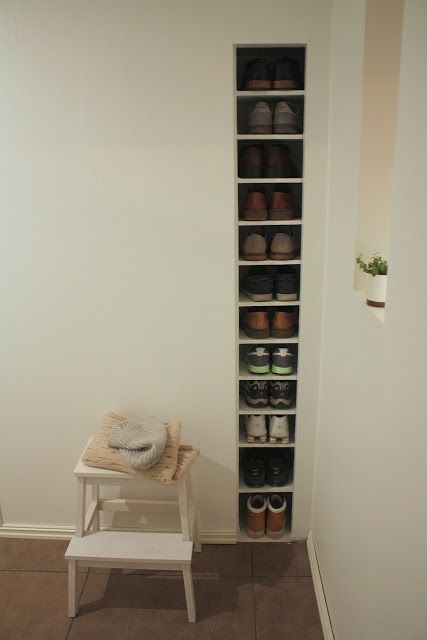 Between the studs shoe storage for mud room?