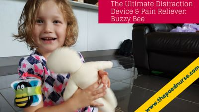 The Ultimate Distraction Toy & Pain Reliever: Buzzy Bee