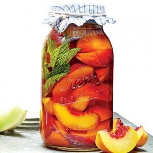 Pickled Peaches | MyRecipes.com Pickled fruit... don't knock it till you try it!                                                                                                                                                      More