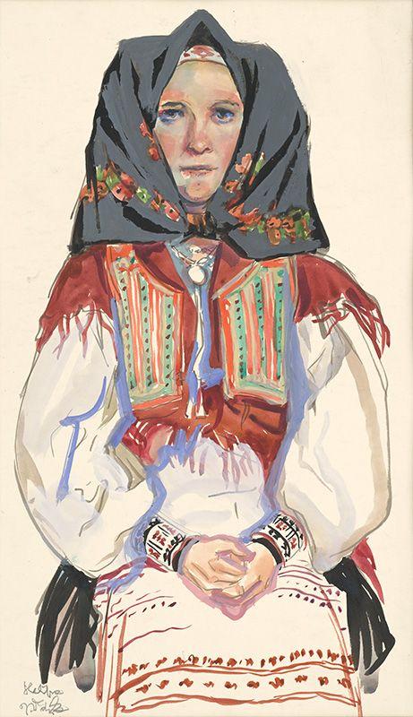 Jaroslav Vodrážka - Heľpa - Štúdia ženy (1938) Stredoslovenská galéria
