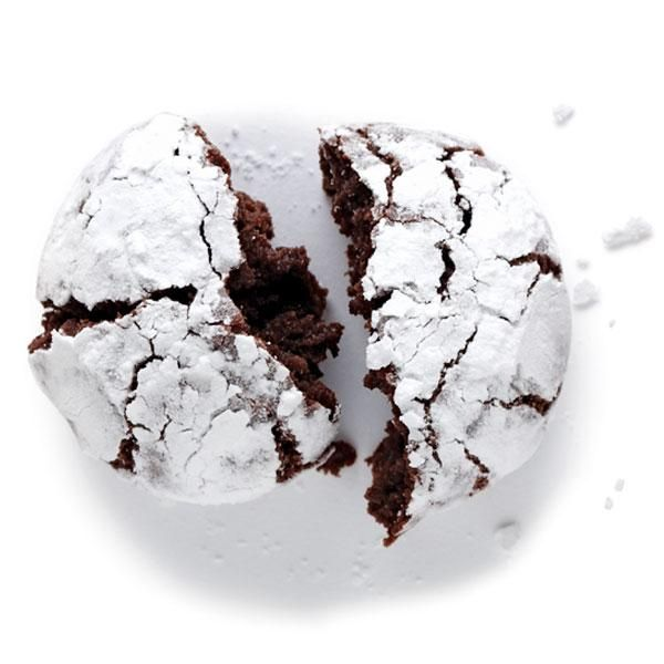 Chocolate crinkle cookies - no eggs or dairy and SO great.  made them this morning - they're like brownies.