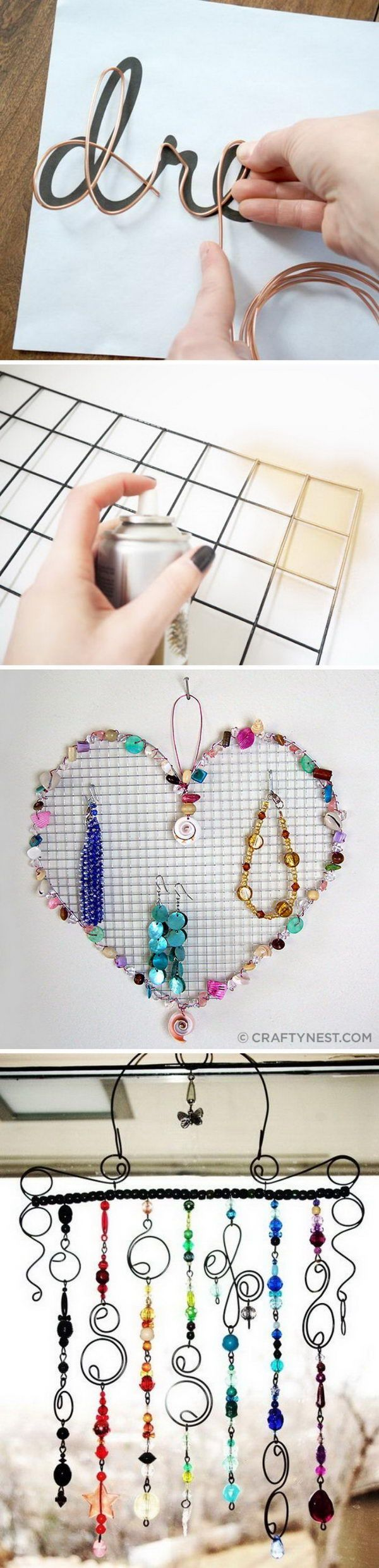 Lots of creative DIY wire projects.