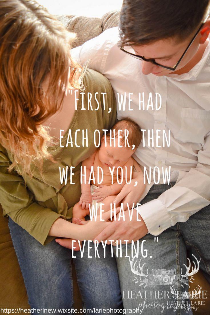 first we had each other then we had you now we have everything