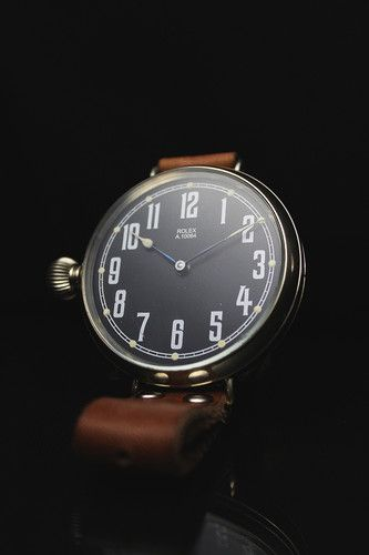 vintage men's military Rolex watch (via Bureau of Trade)
