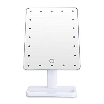 Elegant Unique Portable LED Touch Screen Makeup Mirror LEDs Lighted Make up Cosmetic Mirror Adjustable
