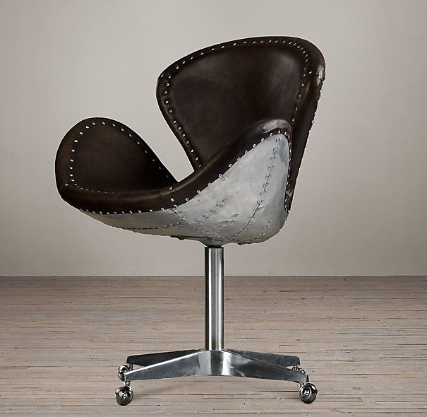 Rh Devon Spitfire Leather Chair 845 28 W X 25 D 36 H With Casters Boutique Furnishings Pinterest Restoration Hardware And Punk