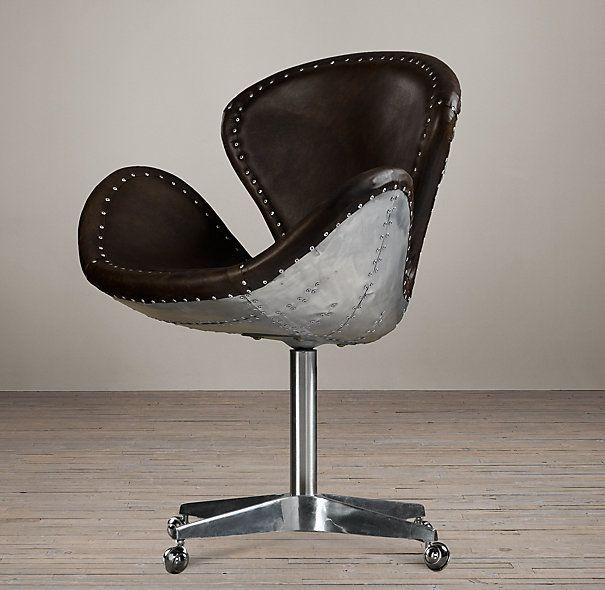 Rh Devon Spitfire Leather Chair 845 28 Quot W X 25 Quot D X 36