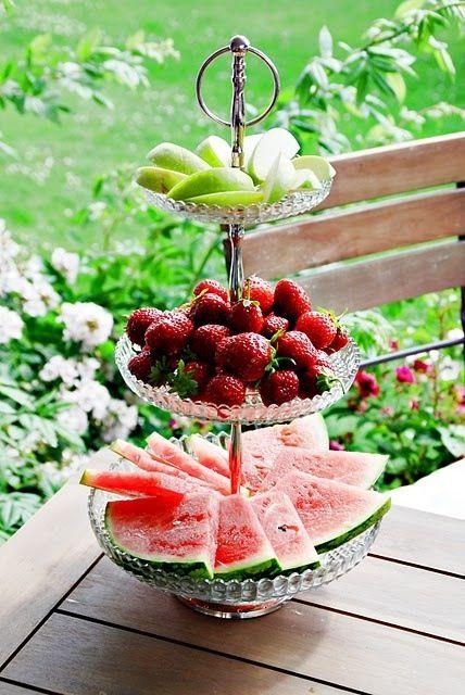 Decoração com frutas: Quanto mais simples, mais bonita