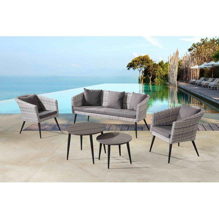 Corrigan Studio Ayden 5 Piece Sofa Seating Group With Cushions