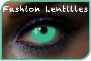 Lentilles Fantaisie Vert U.V Glow Green