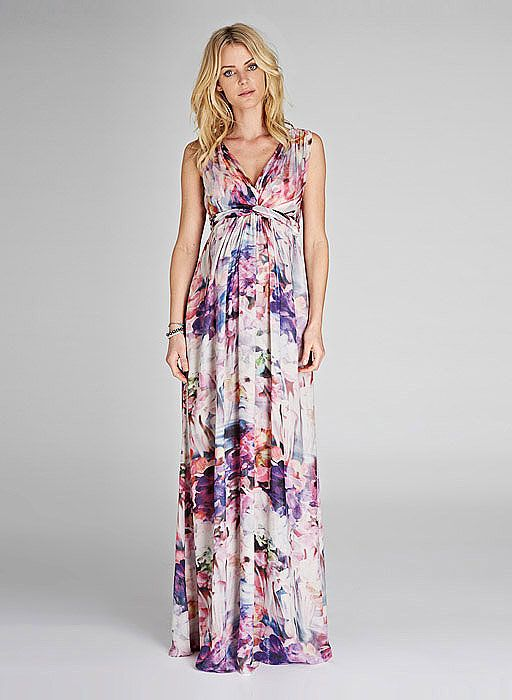 Perfect for: Isabella Oliver's versatile Tilda Print Maxi Dress bridges the gap from beach weddings to garden parties to black tie in style.  Wear with: Metallic, Grecian-style sandals and bangle bracelets or dangly earrings.