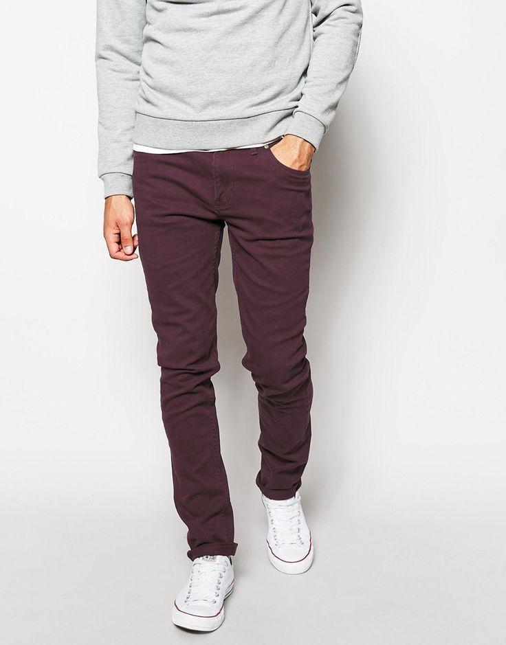 Pantalon bordeaux skinny