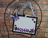 Custom Personalized Zebra Dry Erase Board