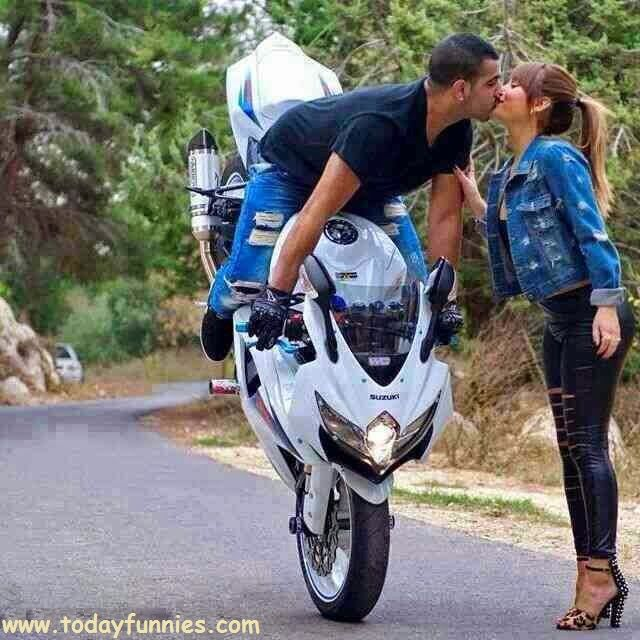 Heavy Bike Stunt End On Kissing Stunt | Today Funnies