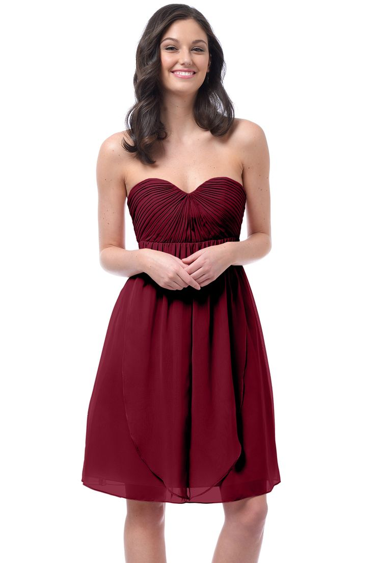 Shop Dove & Dahlia Bridesmaid Dress - Lucy in Poly Chiffon at Weddington Way. Find the perfect made-to-order bridesmaid dresses for your bridal party in your favorite color, style and fabric at Weddington Way.