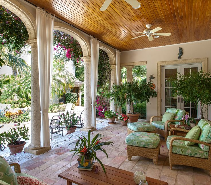 167 best tropical lanai images on pinterest | outdoor living ... - Tropical Patio Ideas