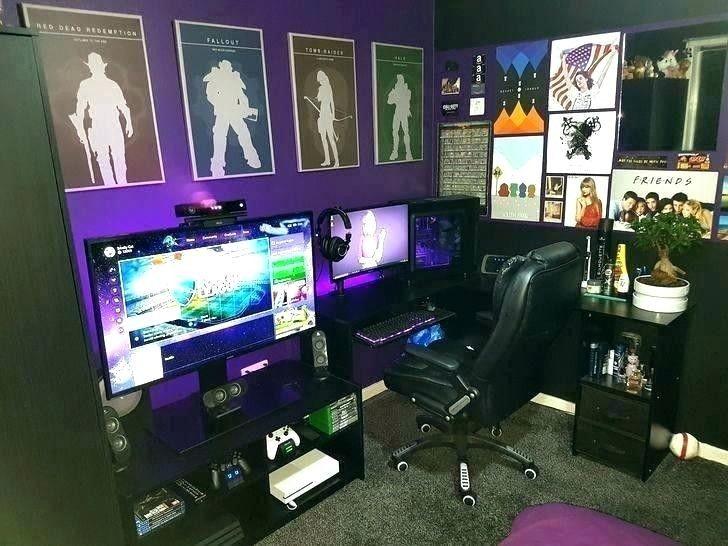 Gamer Room Computerspielraum Gamer Schlafzimmer Gamer Zimmer