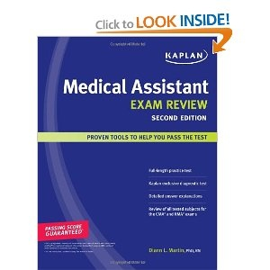 Medical Assistant subjects covered in college placement exams