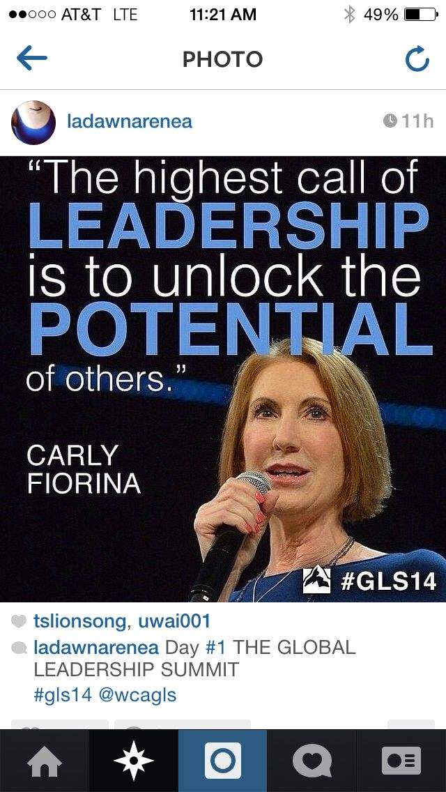 Global Leadership Summit #GLS14 with Carly Fiorina