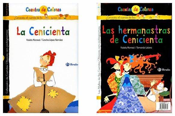 """""""La Cenicienta"""" - Concha López Narváez  (Bruño) """"Las hermanastras de Cenicienta"""" - Fernando Lalana (Bruño)"""