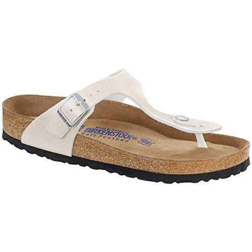 """Birkenstock """"Gizeh"""" Birko-flor Magic Galaxy White (Weichbettung) - Zehentrenner Damen - 847473 - Schmales Fußbett EU(38) - http://on-line-kaufen.de/birkenstock/38-schmal-birkenstock-gizeh-damen-sandalen"""