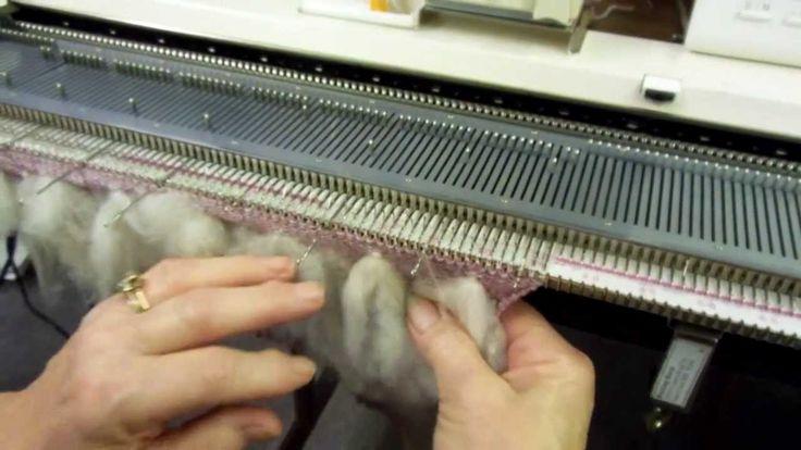 Thrumming on the Knitting Machine