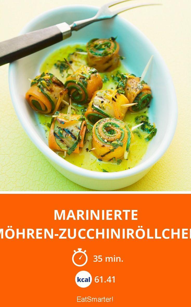 Marinierte Möhren-Zucchiniröllchen
