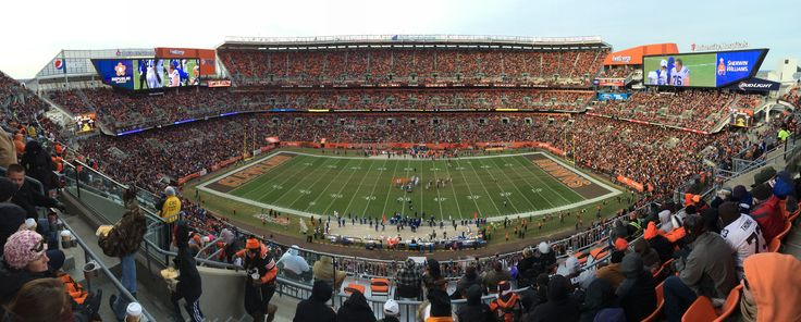 First Energy Stadium, December 7, 2014. Brian Hoyer, started this game VS The Indianapolis Colts. Maybe his last start with the Browns?