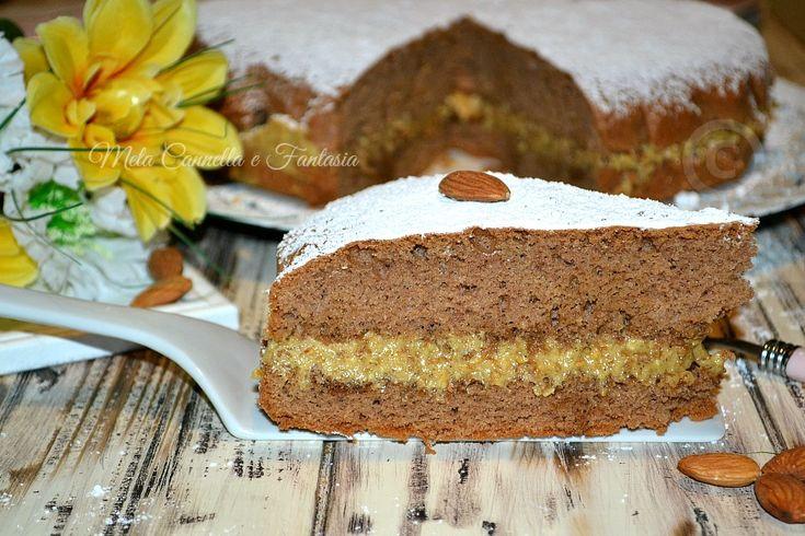 Torta al cacao con crema moka - ricetta facile e veloce