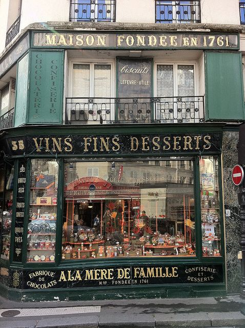 A La Mère de Famille, 9th arrondissement, Paris. Found by Nick Sherman.