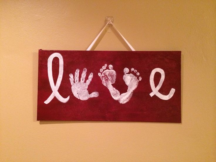 Baby hand print and foot print art love crafts for Crafts with hands