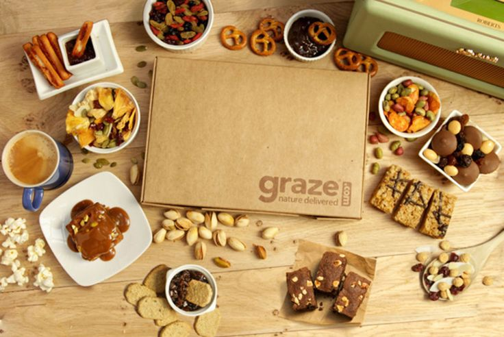 4 graze boxes + DELIVERY INCLUDED from graze (was £12.61)  Redeem now - I love Graze for healthy snacks.