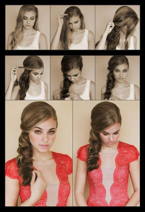 How to style a side scallop braid - My Favorite Things