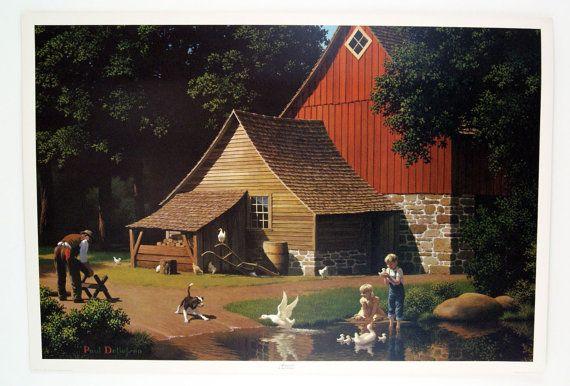 Vintage 1970's Paul Detlefsen Memories Large by unbelievablefinds, $32.99
