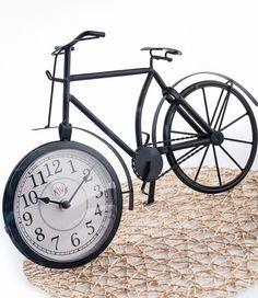 Ferforje Bisiklet Masa Saati
