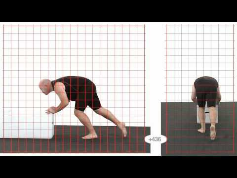 Push: Larger male: Grid Overlay - Animation Reference
