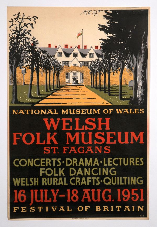 Old poster from the archive. Events were held at St Fagans in conjunction with the Festival of Britain.