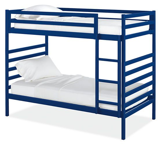 True to its name, our Fort kids' bunk bed is a fun hideaway. Host the best sleepover on the block with the clever twin-over-full bunk bed. The twin-over-twin design converts to two separate twin beds for greater flexibility once your kids' bunking days are over. Our Fort bunk bed meets or exceeds all U.S. government safety standards, as well as CPSC requirements and ASTM standards. Made from durable steel and powder-coated with vibrant colors, Fort adds a pop of personality to kids' rooms.