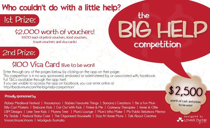 You can win $2500 worth of vouchers just click to go to page to enter