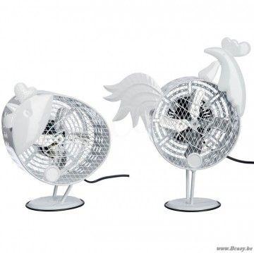"J-Line Witte kip ventilator wit metaal 45H Assortiment van 2 stuks <span style=""font-size: 0.01pt;"">Jline-by-Jolipa-53870-décoration-style-moderne-online-vente-online</span>"