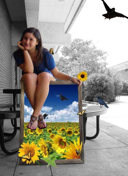 Digital Art - Self-Portrait Frame Project Art of Apex High School