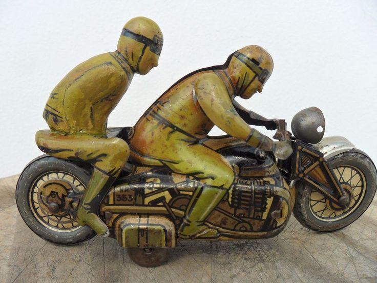 Rare Motorcycle Bike Clockwork CKO Kellerman Made in U.S.Zone Germany 1940's