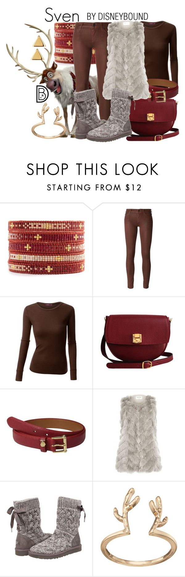 """Sven"" by leslieakay ❤ liked on Polyvore featuring Chan Luu, Koral, Doublju, The Code, Lauren Ralph Lauren, River Island, UGG Australia, LC Lauren Conrad, Argento Vivo and disney"