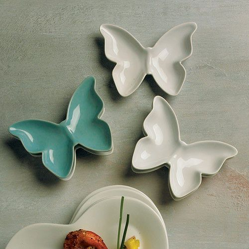 These Ceramic Decorative Butterfly Dishes can add a whimsical feeling to your…