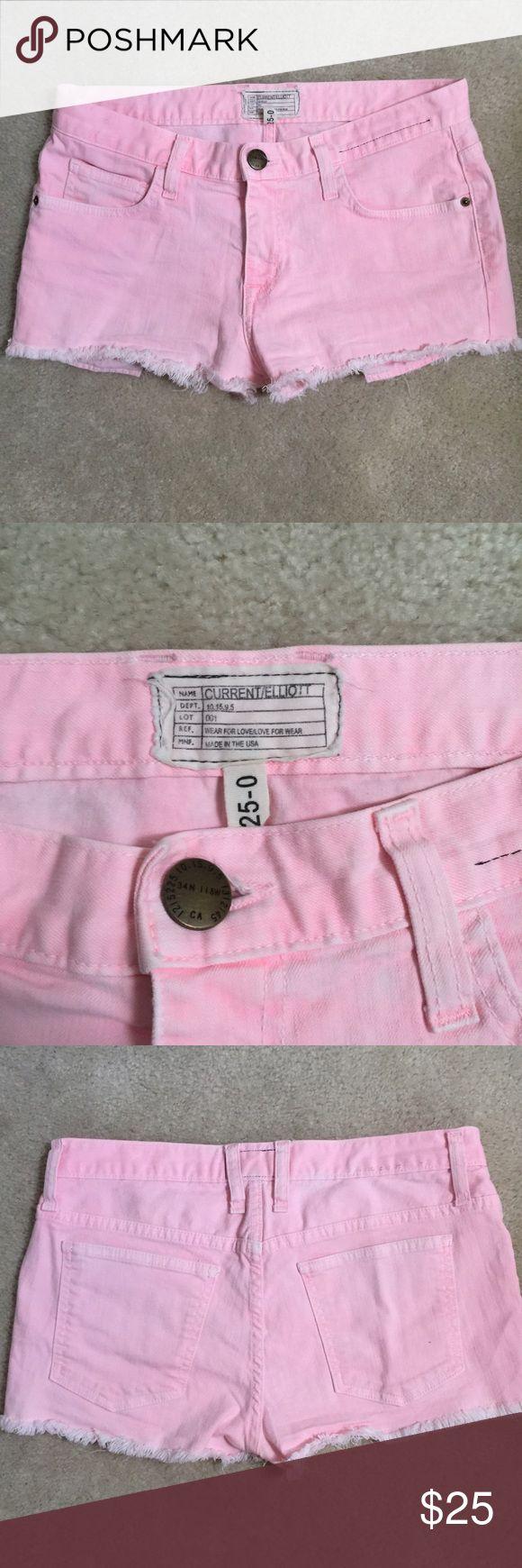 Current/Elliot boyfriend shorts in day glow pink Current/Elliot boyfriend short in day glow pink 98% cotton 2% elastin Only worn once. Current/Elliott Shorts Jean Shorts