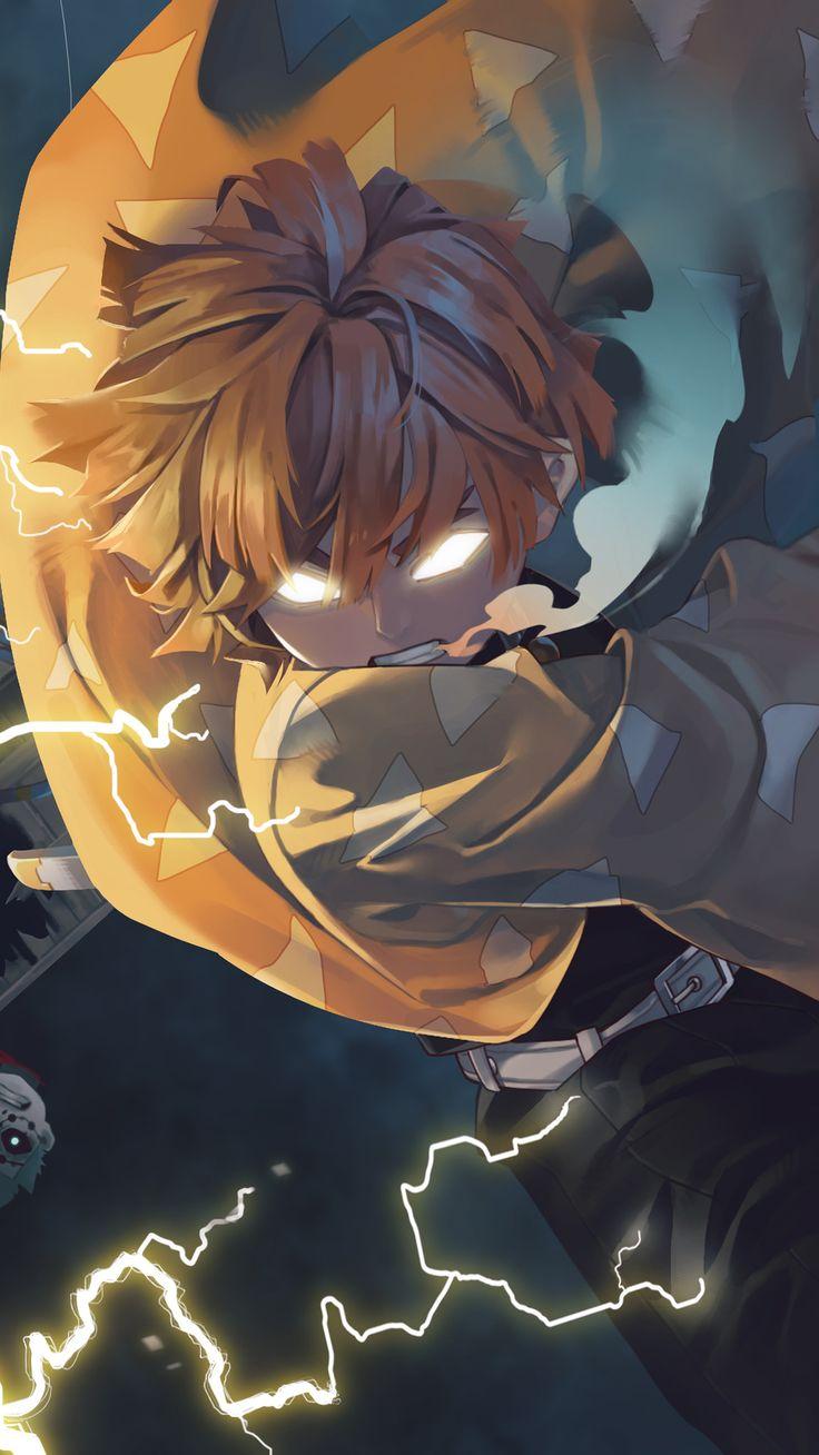 Best Demon Slayer Zenitsu Agatsuma HD Wallpaper 2020 di