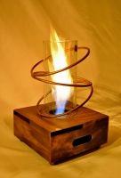 Caja mágica, Calienta hasta 40 m2, llama protegida y con efecto de remolino. athosmuebles.com