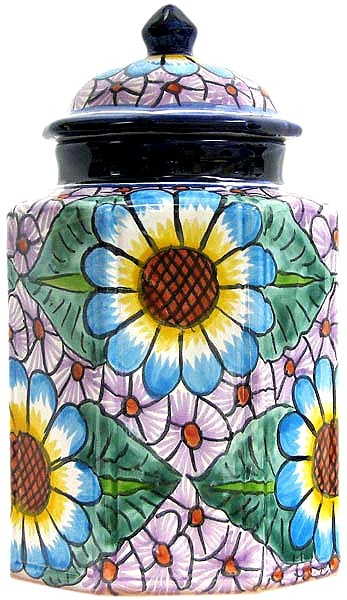 Talavera Kitchen Canister I usually hate stuff like this but something about this just really appeals to me.